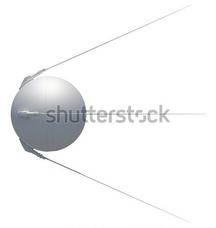 衛星 コミュニケーション 孤立した 白 3D レンダリング ストックフォト © cherezoff