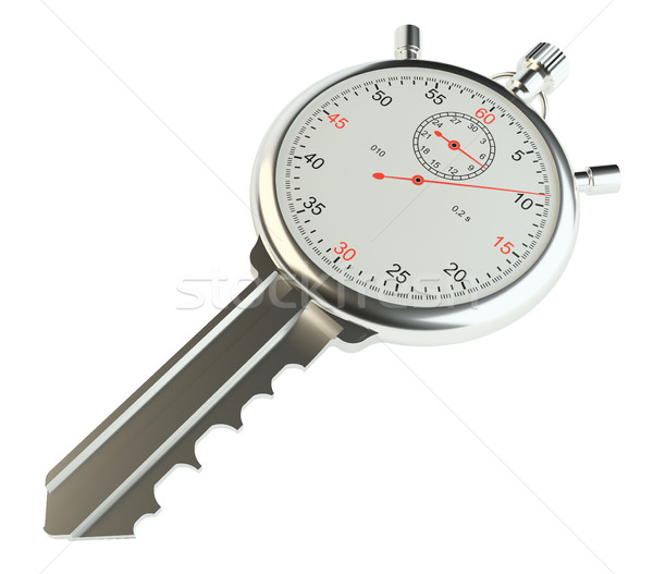 Key with stopwatch Stock photo © cherezoff