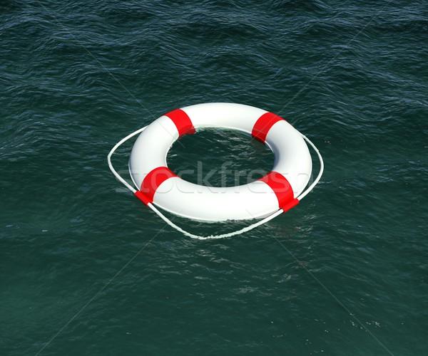Flutuante água 3D fundo segurança Foto stock © cherezoff