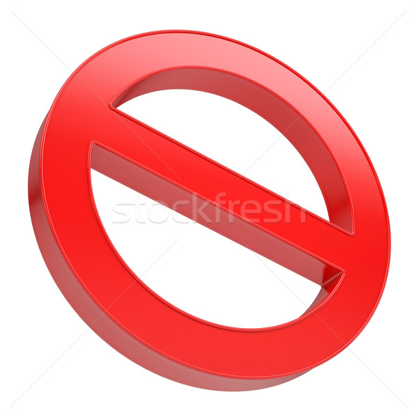 Red prohibitory sign Stock photo © cherezoff