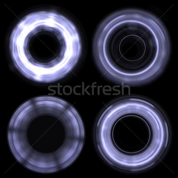 抽象的な サークル 孤立した 黒 ストックフォト © cherezoff