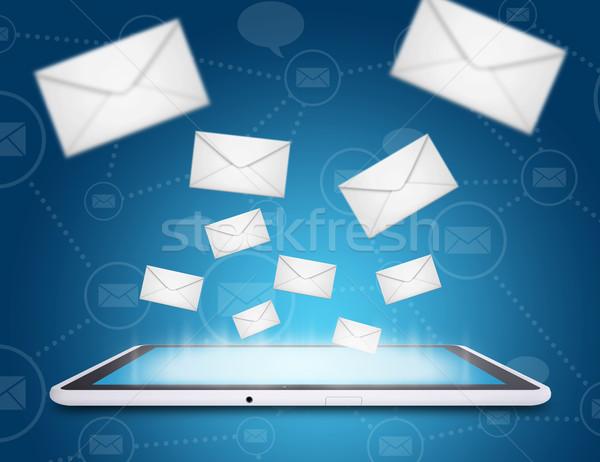 Stock fotó: Táblagép · globális · üzlet · internet · kapcsolat · hálózat