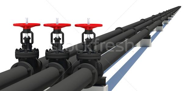 три черный Трубы изолированный белый металл Сток-фото © cherezoff