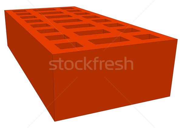 Brick on white Stock photo © cherezoff