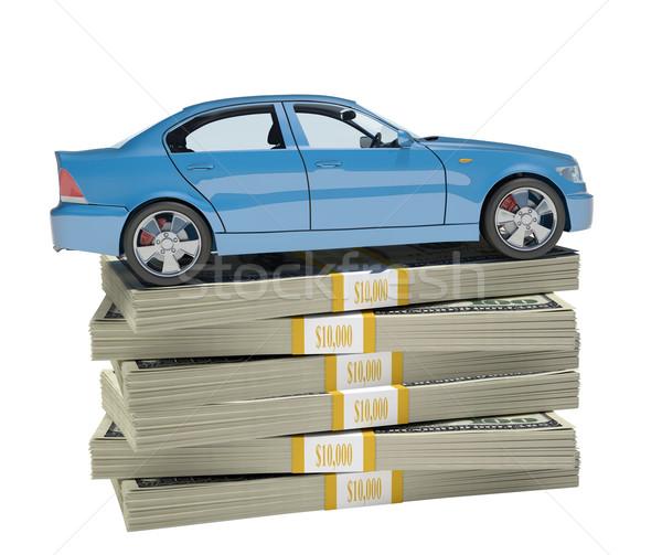 Car on bundle of money Stock photo © cherezoff