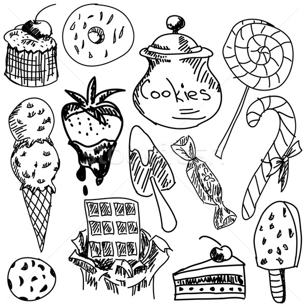 甘い食べ物 白 クローズアップ 表示 チョコレート ストックフォト © cherezoff
