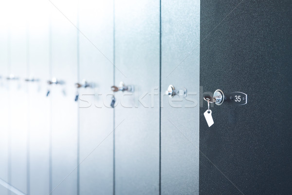 Metal lockers with keys Stock photo © cherezoff