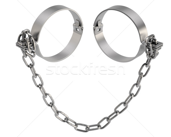 Old fashioned handcuffs Stock photo © cherezoff