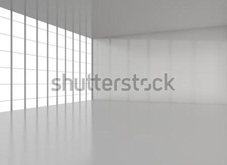 Vazio moderno sótão piso teto janela Foto stock © cherezoff