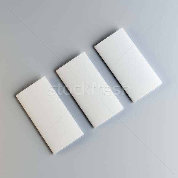 Three blank fliers or leaflets Stock photo © cherezoff