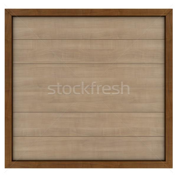 Fából készült óriásplakát 3d render izolált fehér út Stock fotó © cherezoff