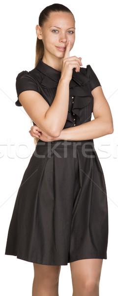 Beautiful woman asking to be quiet Stock photo © cherezoff