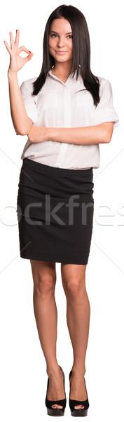 Belle affaires permanent signe de la main Photo stock © cherezoff