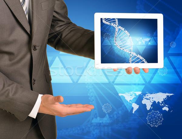 человека рук изображение ДНК спираль Сток-фото © cherezoff