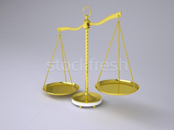 Arany nyaláb egyensúly árnyék vásár törvény Stock fotó © cherezoff