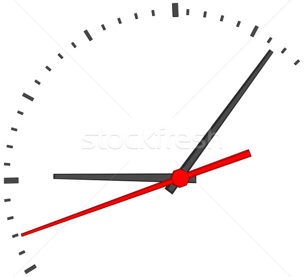 Clock face with red second hand Stock photo © cherezoff