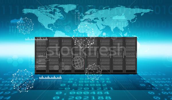 набор стали аннотация синий Мир карта Сток-фото © cherezoff