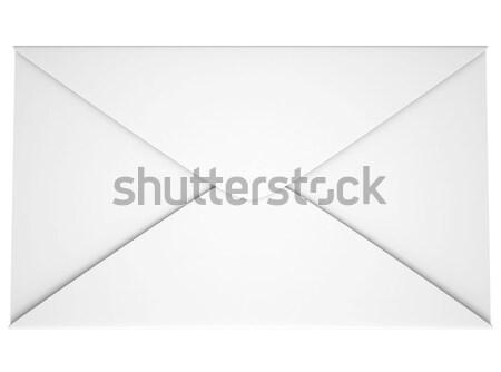 Lege papier boekje gesloten geïsoleerd witte Stockfoto © cherezoff