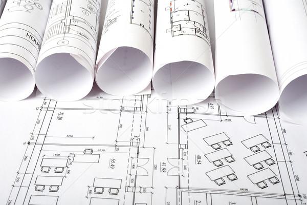 Architettura piano progetti costruzione carta Foto d'archivio © cherezoff