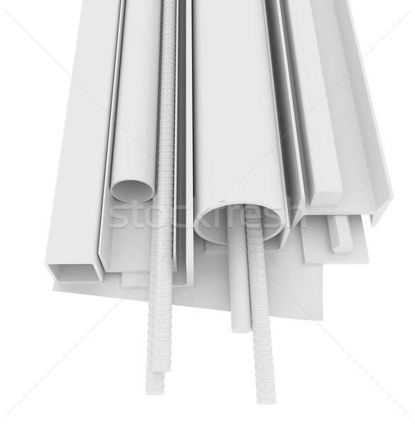 Branco aço inoxidável produtos isolado 3D Foto stock © cherezoff