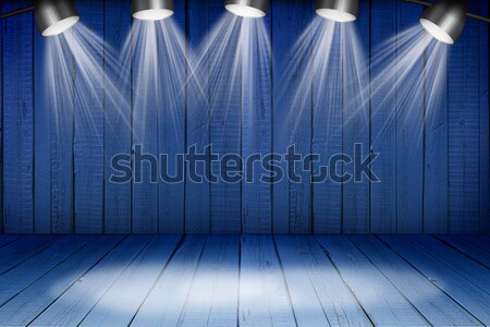 Illuminated empty concert stage Stock photo © cherezoff