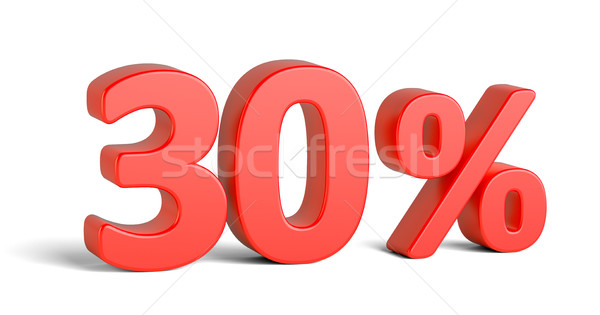 Red thirty percent sign on white background Stock photo © cherezoff