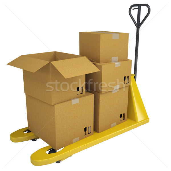 Pallet Truck with boxes Stock photo © cherezoff
