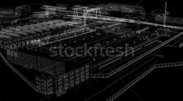 Industrial abstract architecture Stock photo © cherezoff
