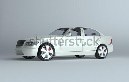 Bleu faible voiture serrure à combinaison rendu 3d gris Photo stock © cherezoff