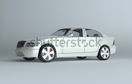 Blue small car and combination lock Stock photo © cherezoff