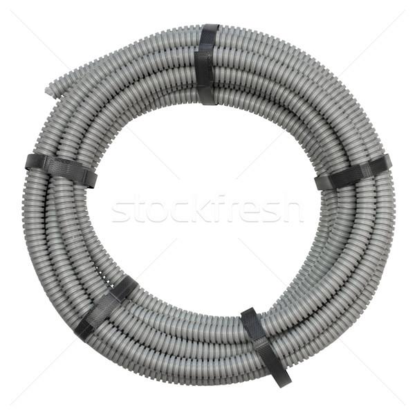 Flexível instalação elétrico cabo isolado branco Foto stock © cherezoff