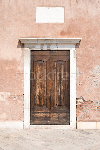 Wooden doors in old-fashioned house Stock photo © cherezoff