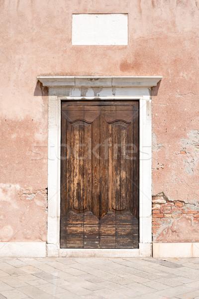 木製 ドア 家 フロント 表示 ストックフォト © cherezoff