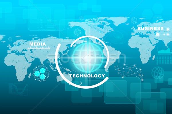 Мир карта бизнеса слово аннотация синий мира Сток-фото © cherezoff
