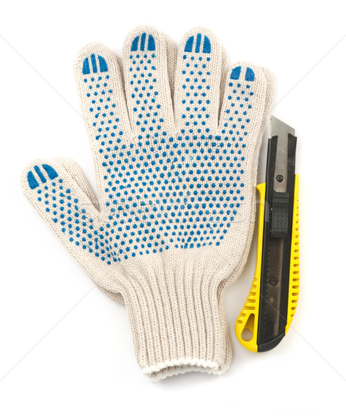 Gloves with cutter Stock photo © cherezoff