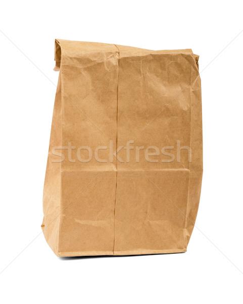 Riciclare carta marrone bag isolato bianco contenitore Foto d'archivio © cherezoff