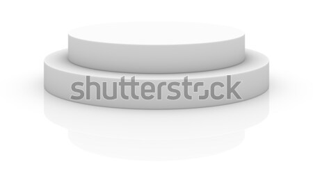 üres fehér pódium izolált absztrakt űr Stock fotó © cherezoff