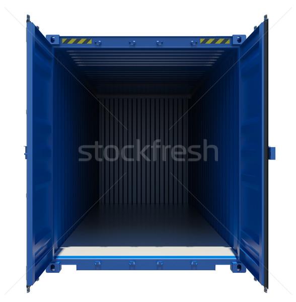 Azul abierto envío contenedor 3D Foto stock © cherezoff