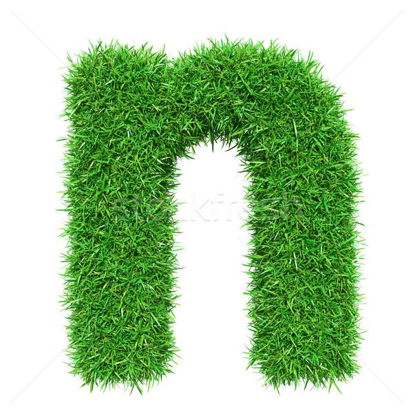 Green Grass Letter N Stock photo © cherezoff