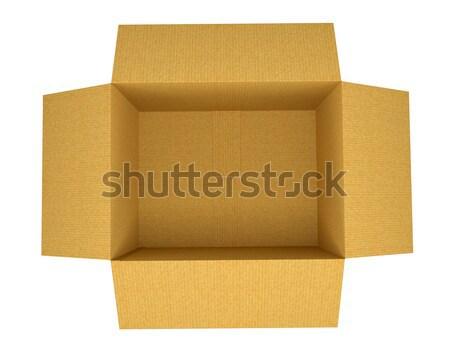 Open corrugated cardboard box Stock photo © cherezoff