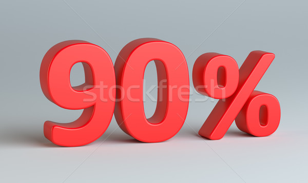 Red percent sign on gray background Stock photo © cherezoff