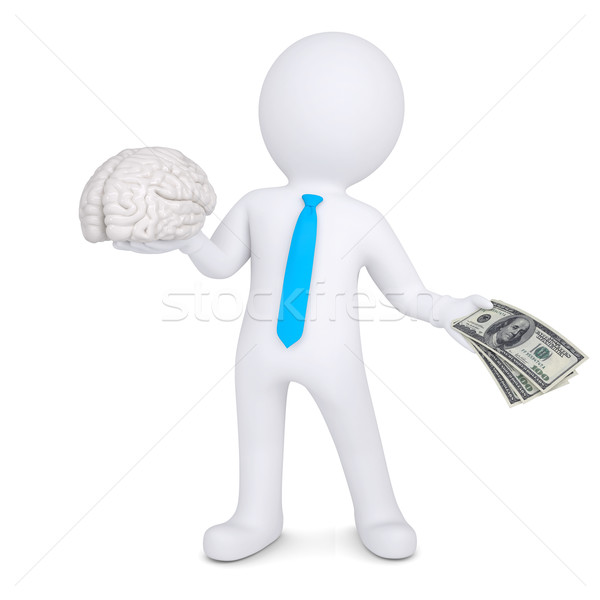 3d man changes the brain for money Stock photo © cherezoff