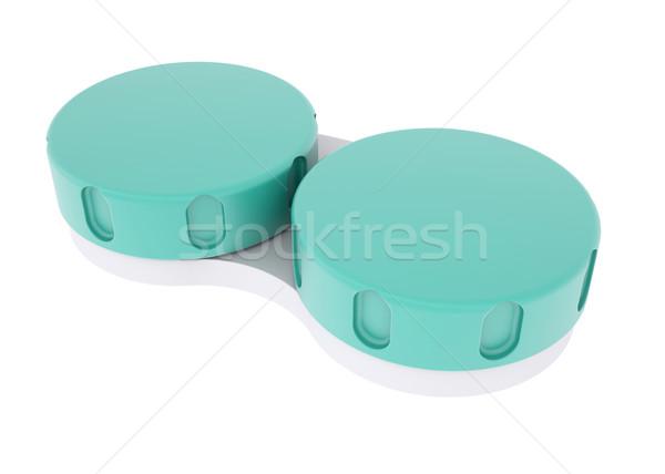 Konténer lencse izolált render fehér orvosi Stock fotó © cherezoff