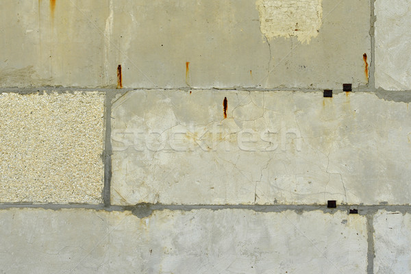 Old, cracked surface of concrete and bricks Stock photo © cherezoff