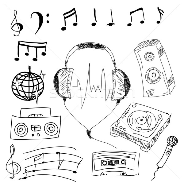 Musical stuff. Vector illustration Stock photo © cherezoff