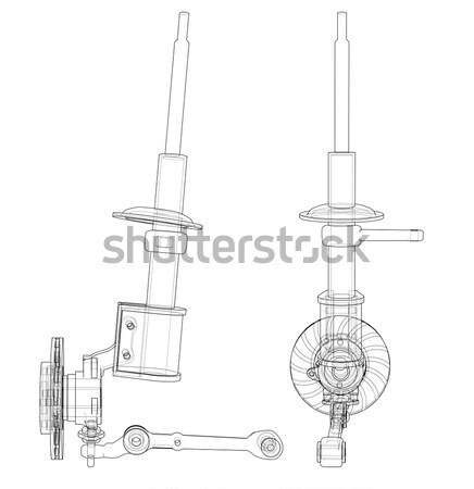 Physik Ausrüstung Bild weiß Stahl Stock foto © cherezoff