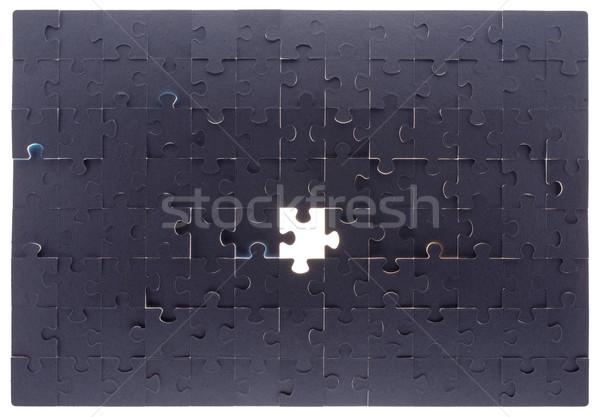 Szürke puzzle üres hely közelkép kilátás terv Stock fotó © cherezoff