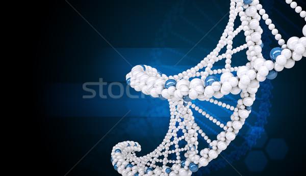 Dna Blauw abstract medische natuur Stockfoto © cherezoff