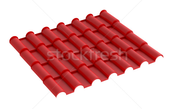 Metal red tile for roof, isolated Stock photo © cherezoff