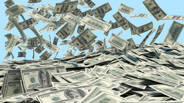 Money falling from the sky in a heap Stock photo © cherezoff